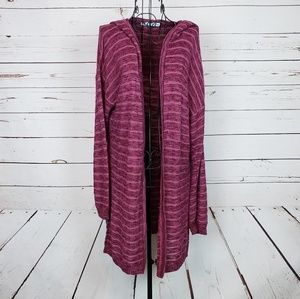 Maurices Hooded Cardigan Sweater Size L